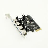 1x 4 ports USB 3.0 PCI-e Controller Card PCI Express to USB3.0 Converter Adapter