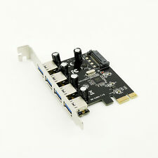 High Speed 4 Port USB 3.0 PCI Express Controller Card Adapter 15-pin SATA Power