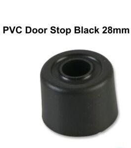 PVC Black Door Stop Stopper 28mm