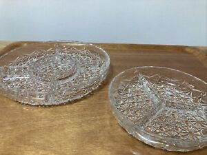 Vintage French Glass Centrepiece Snack Bowl Dish Party Table Garden Food Server
