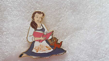 Disney Inspired Fantasy Pin Marble Belle Oliver Beauty and the Beast Cat pin