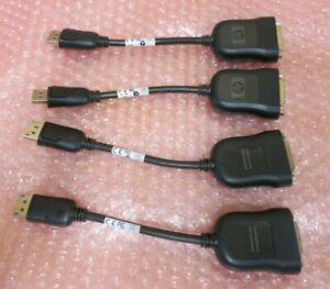 Job Lot 4 x HP/Foxconn 481409-001 DisplayPort Male To DVI-D Female Adapter