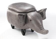 Hocker ELEPHANT grau  mit Staufach