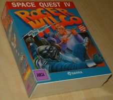 SPACE QUEST IV Roger Wilco Sierra ~ Commodore Amiga ~ BIG boxed/SEALED ~ english