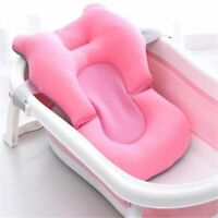Newborn Shower Mat Infant Bathtub Baby Bath Tub Pillow Pad Lounger Air Cushion
