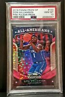 2019 Panini Prizm Draft  Zion Williamson PSA 10 Gem Mint Rookie Pink Pulsar Hot!