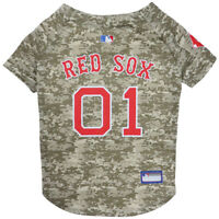Boston Red Sox MLB Officially Licensed Dog Pet Camo Jersey Sizes XS-XL