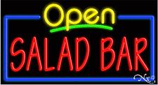 "NEW ""OPEN SALAD BAR"" 37x20 REAL NEON SIGN W/CUSTOM OPTIONS 15564"