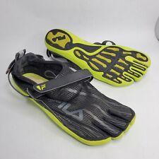 Fila Sport SkeleToes 2.0 Ez Slide Black Green Barefoot Running Shoe Men's US 13