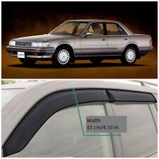 Wide Window Visors Side Guard Vent Deflectors For Toyota Mark II X80  1988 1992