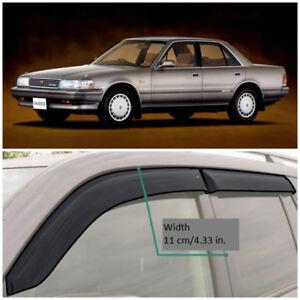 TE210888 Window Visors Vent Wide Deflectors For Toyota Mark II X80 1988-1992