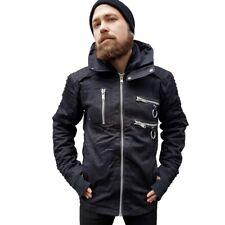 Vixxsin Gothic Punk Industrial Denim Jacke Winterjacke - Salute Zipper