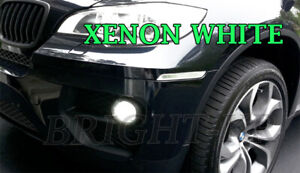 BMW X5 E70 SUPER XENON WHITE 6000K LED Fog Light Bulbs CANBUS