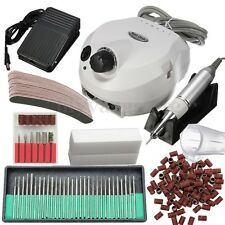 30000RPM Electric Nail File Drill Bits Sanding Block Manicure Machine Set