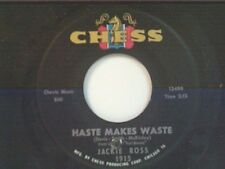 "JACKIE ROSS ""HASTE MAKES WASTE / WASTING TIME"" 45 MINT"