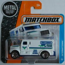 MATCHBOX-International Armored Car blanc/blaumet. Nouveau/Neuf dans sa boîte