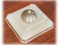 Vintage MCM 1950s Rex Electric White Atomic Ceiling Fixture Shades, Atomic Era