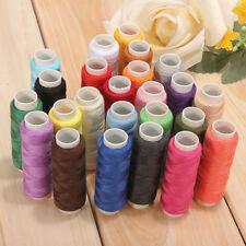 Set 24pcs 200 Yard Mixed Colors Cotton Spool Sewing Thread Hand Machine Accessor