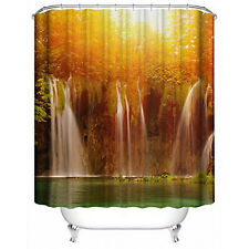 Waterproof Polyester Fabric Various Pattern 12 Hooks Bathroom Shower Curtain Y