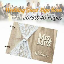 Signature Guestbook DIY Photo Memory Book Album Mr&Mrs Wedding Guest Book