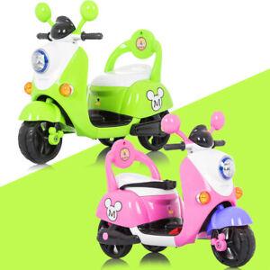 New Kids Motorbike Motocross Ride On Motorcycle Toy Electric Bike 6V Battery