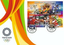 Stamps Sports Olympic Games 2020 in Tokyo FDC imperforated