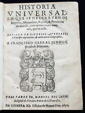 1652 Universal History America Asia Africa Muslim States Portuguese Franciscan