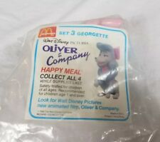 VINTAGE OLIVER & COmpany MCDONALDS HAPPY MEAL TOYS  GEORGETTE SEALED 1988