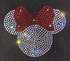 Minnie Mouse Crystal Iron On Transfer 4 Clothes /& Furnishings Rhinestone Pink