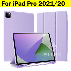 For iPad Pro 12.9/11 2021/2020 Smart Case Silicon Shockproof Cover Pen Holder
