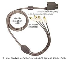 8 ' Xbox 360 Pelican Cable Composite RCA A/V with S-Video Cable