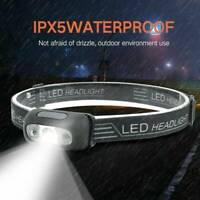LED USB Rechargeable Headlamp Fish Bright Waterproof Head Torch Headlight HOT CA