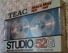 * Rare Teac Studio/52G Metal Tape/Reel * New Sealed Cassette * 1 Qty