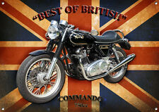LARGE A3 SIZE COMMANDO MOTORCYCLE METAL SIGN,CLASSIC,VINTAGE,COLLECTABLE,RETRO