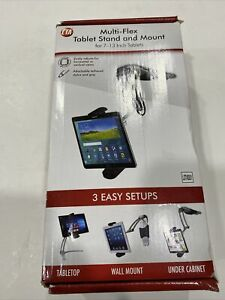 CTA Digital Multi-Flex Tablet Stand + Mount???Black 360Deg Rotating Holder