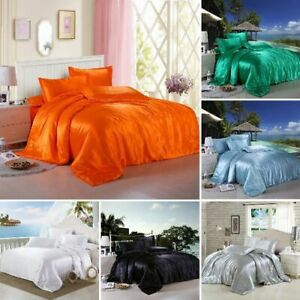 "Satin Silk 4-PCs Sheet Set Fits 15-18"" Deep , 1 Fitted, 1 Flat, 2 Pillowcase"