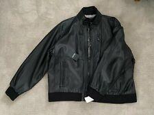 DKNY MENS LEATHER BLACK JACKET LINED DX8B9356 NEW NWT XXX-LARGE XXXL 3XL $250