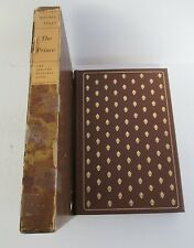 Machiavelli THE PRINCE Limited Editions Club #22/1500 1954 in Slipcase