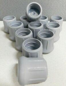 """(Pack of 12) Industrial Leg Tips 1-1/4"""" Inside Diameter Rubber Chair Caps Ladder"""