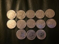 Lot Of 13 RARE Vintage R Token 'This Token Awarded For Skill' Arcade