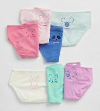 New Gap Girls 7 Pack Pairs Underwear XXL 16 year Bikini Animal Faces Pink Blue