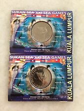 (JC) 2 pcs 21st KL SEA Games Malaysia Coin Card 2001