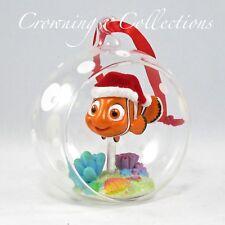 2013 Disney Store Finding Nemo Sketchbook Ornament Glass Ball Globe Pixar Santa