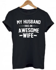 MY HUSBAND HAS AN AWESOME WIFE, funny, Hubby, christmas present tumblr T Shirt