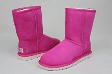 UGG AUSTRALIA CLASSIC SHORT BREAST CANCER RASPBERRY PINK RIBBON BOOTS US 5 EU 36