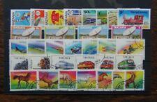 Tanzania 1976 1993 Telecoms Trains Satellite Aircraft Trains Horses sets Used