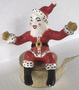 Vintage Santa Claus Sitting Ceramic 1950's Christmas Figurine
