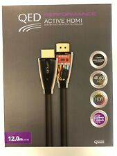 QED Performance Active 4K 60 UHD HDR High Speed HDMI Cable 12M QE6013 - GREY