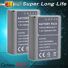 2X1350mAh Battery BLN-1 BLN1 Olympus  OM-D E-M1 E-M5 Mark II Pen E-P5  UK RML