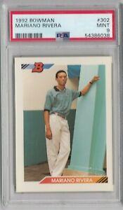 1992 Bowman Mariano Rivera New York Yankees #302 Baseball Rookie Card PSA 9 Mint
